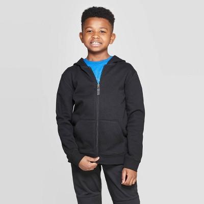 Boys' Fleece Hooded Sweatshirt - Cat & Jack™ Black