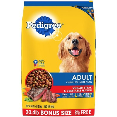 Pedigree Grilled Steak And Vegetable Dry Dog Food