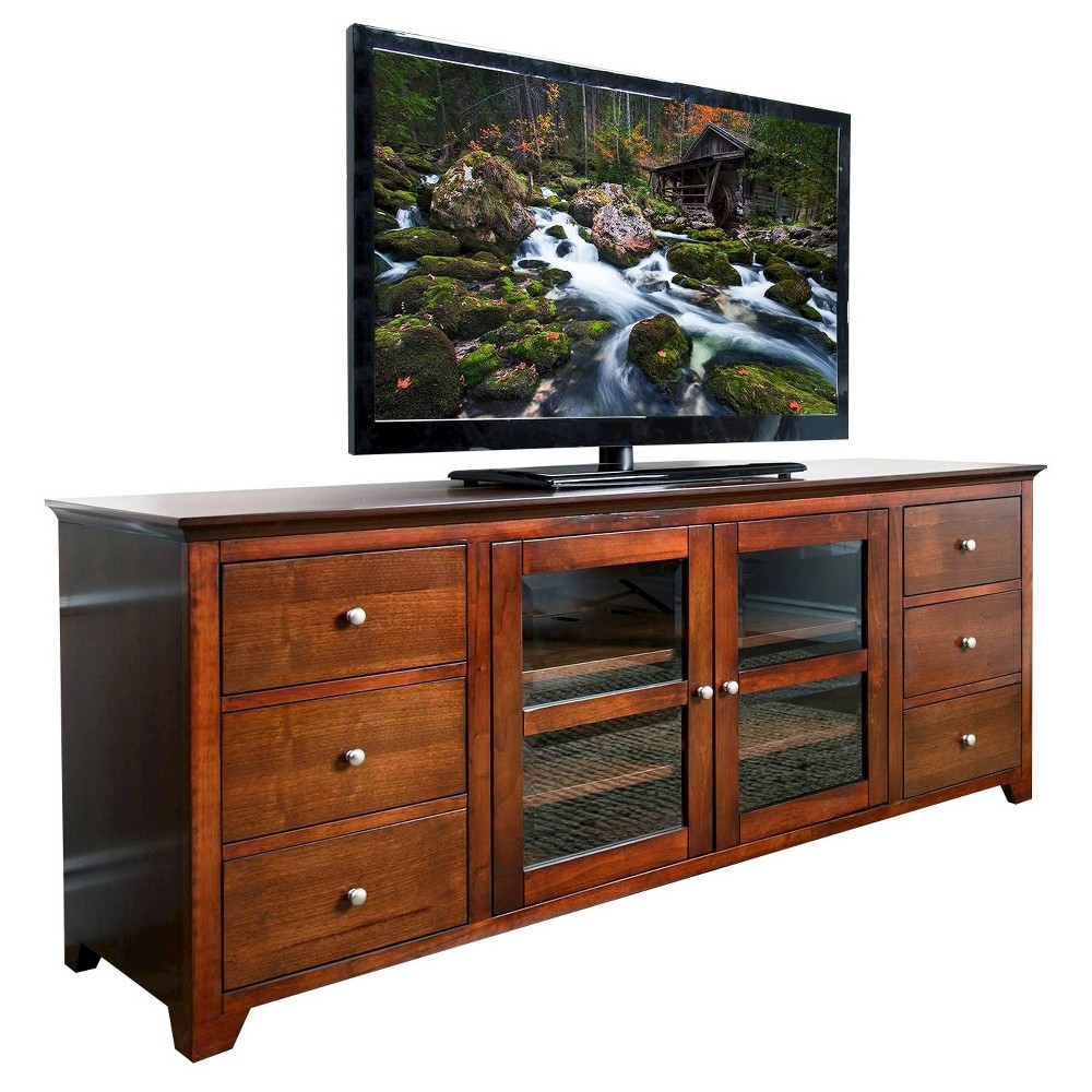 Magnolia TV Console - Walnut (Brown)(72) - Abbyson Living