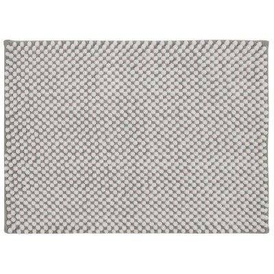 "17""x24"" Low Chenille Memory Foam Bath Rug Light Gray - Threshold™"