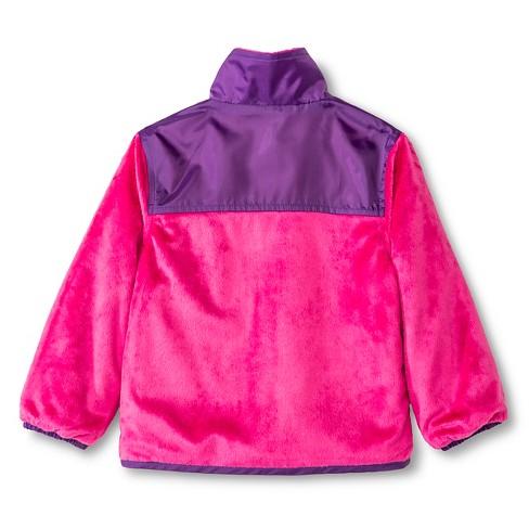 fe1740cb5126 Weather Tamer Toddler Girls  Reversible Fleece Jacket - Pink   Target