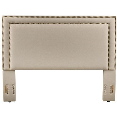 Glenwillow Home Baffin Upholstered Headboard in Taupe Linen, King/California King Size