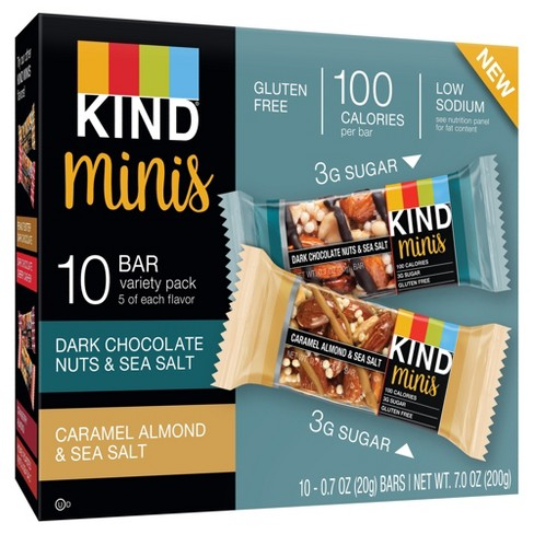 KIND® minis - Dark Chocolate Nuts & Sea Salt and Caramel Almond & Sea Salt - 10ct - image 1 of 3