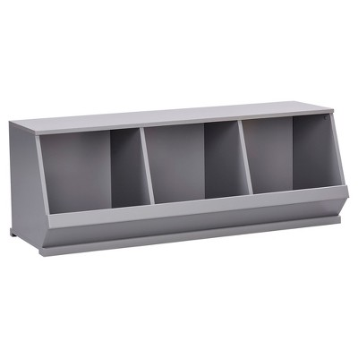 Kelly Modular Stackable Triple Storage Cubby - Inspire Q