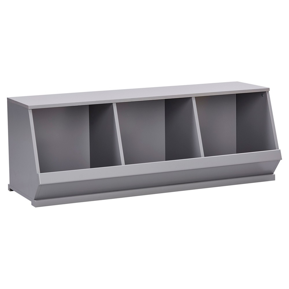 Image of Kelly Modular Stackable Triple Storage Cubby - Gray - Inspire Q