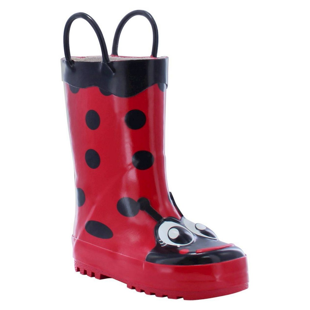 Image of Girls' Western Chief Ladybug Rain Boots - Red 10, Girl's