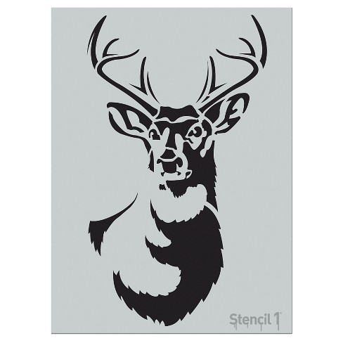"""Stencil1® Antlered Deer - Wall Stencil 18"""" x 24"""" - image 1 of 5"""