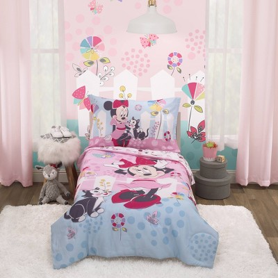 4pc Toddler Minnie Mouse Bed Set