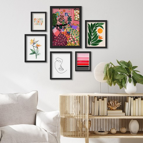 Americanflat 6 Piece Framed Gallery, Wall Art For Living Room
