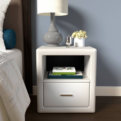 Reunion Faux Leather Upholstered Nightstand - Eco Dream