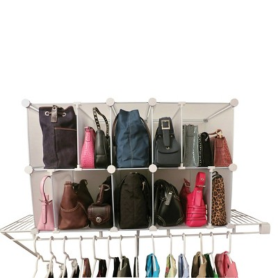 Luxury Living Park-a-Purse Modular Organizer Clear