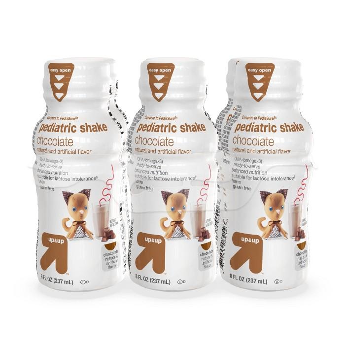 Pediatric Shake, Chocolate - 8 fl oz (6pk) - Up&Up™ - image 1 of 5