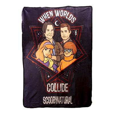 Just Funky Supernatural Scooby MultiCharacter Lightweight Fleece Throw Blanket 45 x 60 Inch