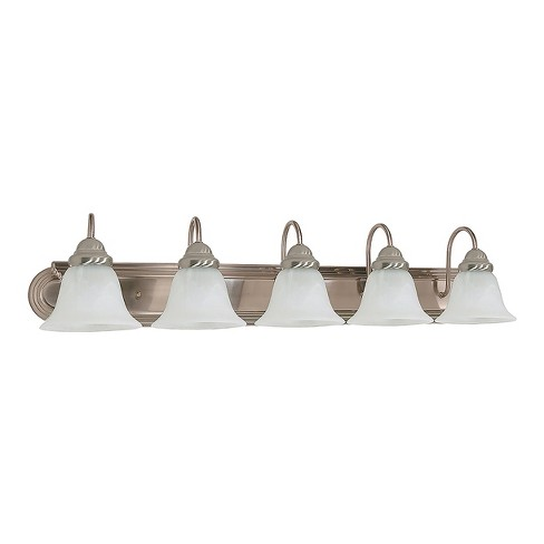 "Vanity Wall Lights 36"" with Alabaster Glass Bell Shades (Set of 5) - Z-Lite - image 1 of 1"