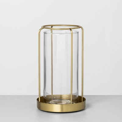 Medium Glass / Metal Vase Brass - Hearth & Hand™ with Magnolia