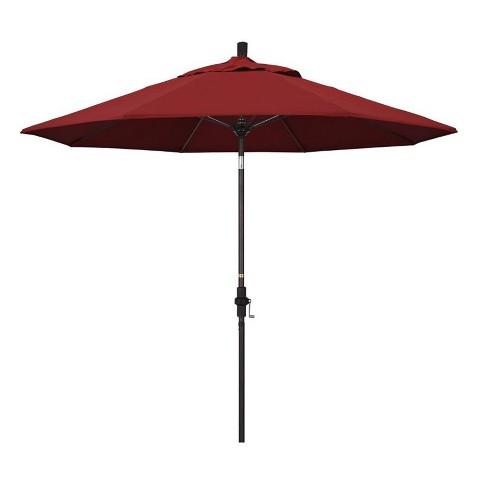 9' Patio Umbrella in Red - California Umbrella - image 1 of 2