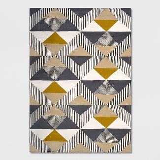 5' x 7' Austin Tile Outdoor Rug Gray/Yellow - Project 62™