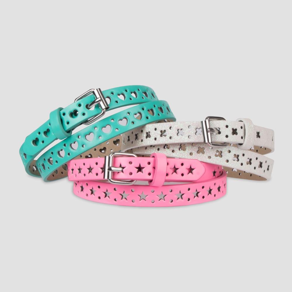 Girls' 3pk Star, Heart & Butterfly Belts - Cat & Jack S, Multicolored