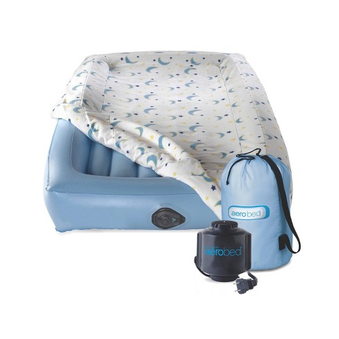 Coleman Kids Air Mattress with Safety Bumpers with Electrical Pump - Blue - image 1 of 4