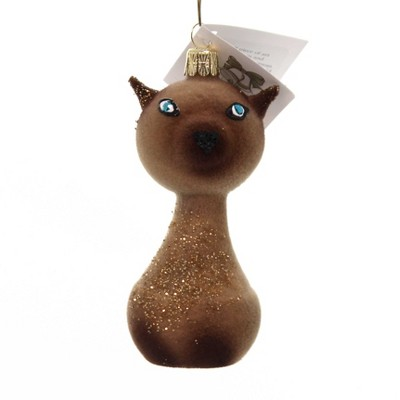 """Golden Bell Collection 3.75"""" Siamese Cat Christmas Ornament Felted  -  Tree Ornaments"""