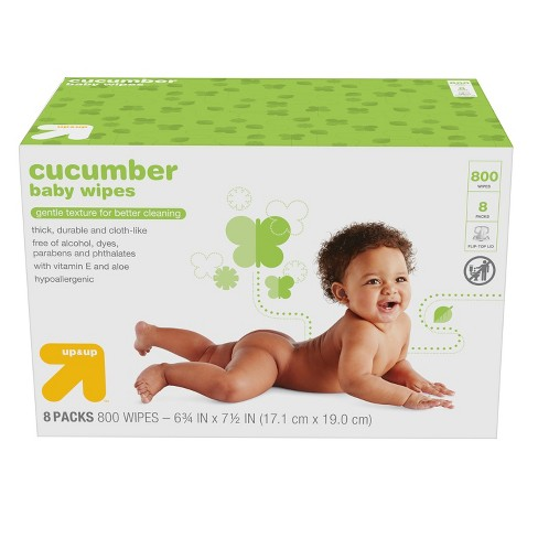 Cucumber Baby Wipes - 800ct - Up&Up™ - image 1 of 3