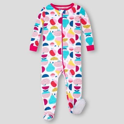 Lamaze Toddler Girls' Organic Cotton Stretchy Fruit Pajama Set - Pink