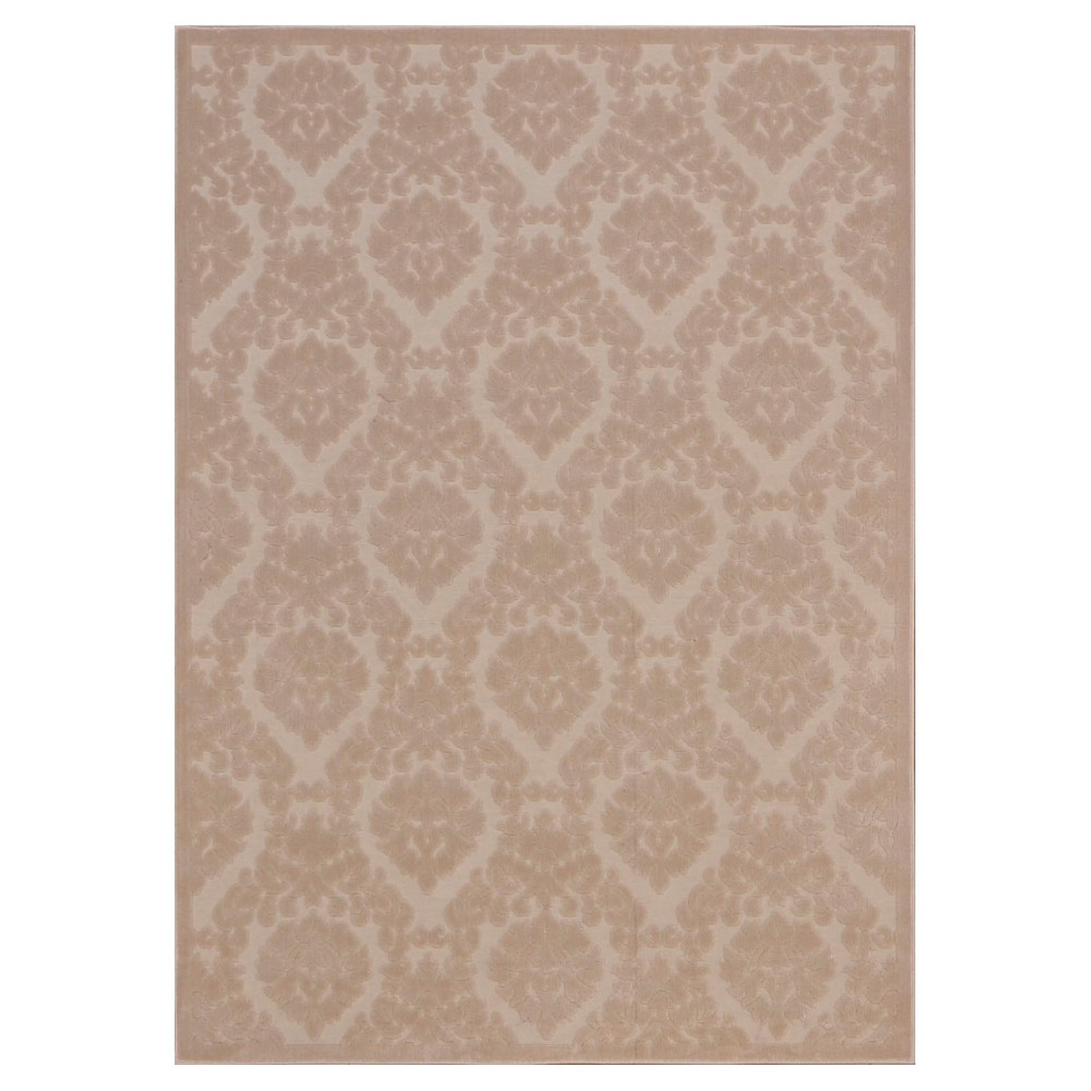 "Image of ""Nourison Damask Ultima Accent Rug - Ivory/Sand (Ivory/Brown) (2'2""""X3'9"""")"""