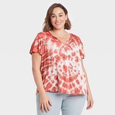 Women's Tie-Dye Short Sleeve V-Neck T-Shirt - Knox Rose™