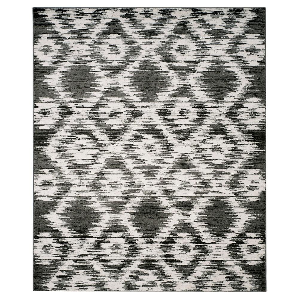 Adirondack Rug - Charcoal/Ivory - (9'x12') - Safavieh, Gray