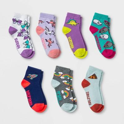 Girls' 7pk 'Days of the Week' Ankle Socks - Cat & Jack™