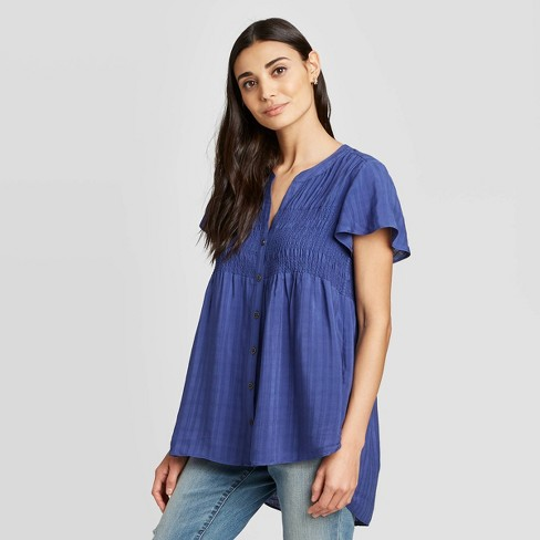 Women's Short Sleeve Blouse - Knox Rose™ - image 1 of 2