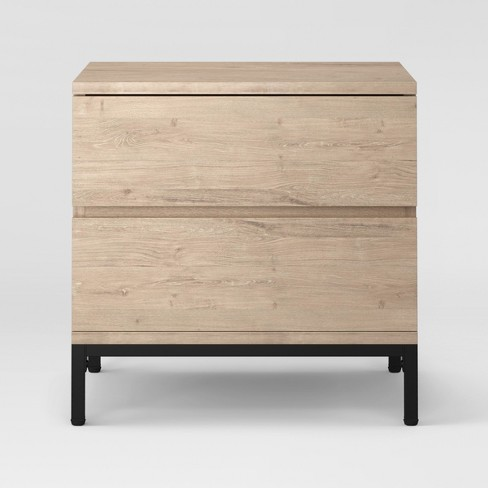 Loring 2 Drawer Nightstand Vintage Oak - Project 62™ - image 1 of 4