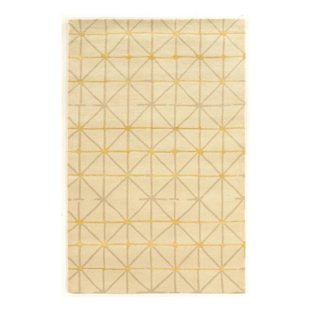 Light Off-White Geometric Loomed Area Rug 5'X8' - Linon, Light Off White