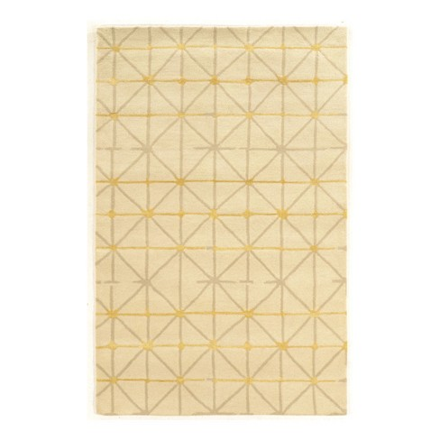 Light Off White Geometric Loomed Area Rug 8 X11 Linon Target