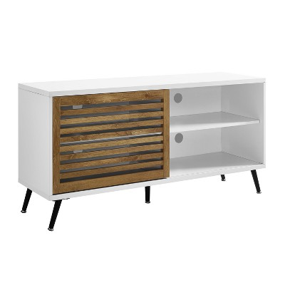 """Modern Sliding Slat Door Console TV Stand for TVs up to 58"""" - Saracina Home"""