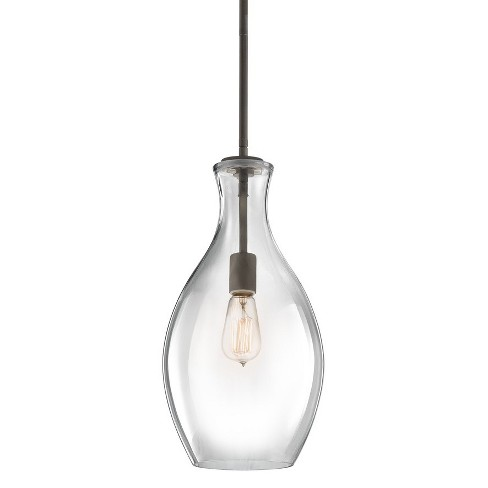 "Kichler 42047 Everly 9"" Wide Mini Pendant with Clear Glass Shade - image 1 of 4"