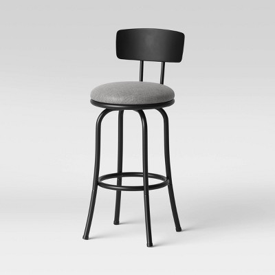 Adjustable Height Metal Back Barstool Black - Room Essentials™
