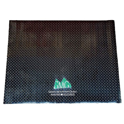 Green Mountain Grills Heat- and Water-Resistant, Flame-Retardant Textured Non-Slip BBQ/Barbeque/Barbecue Grill Deck Floor Mat, Black
