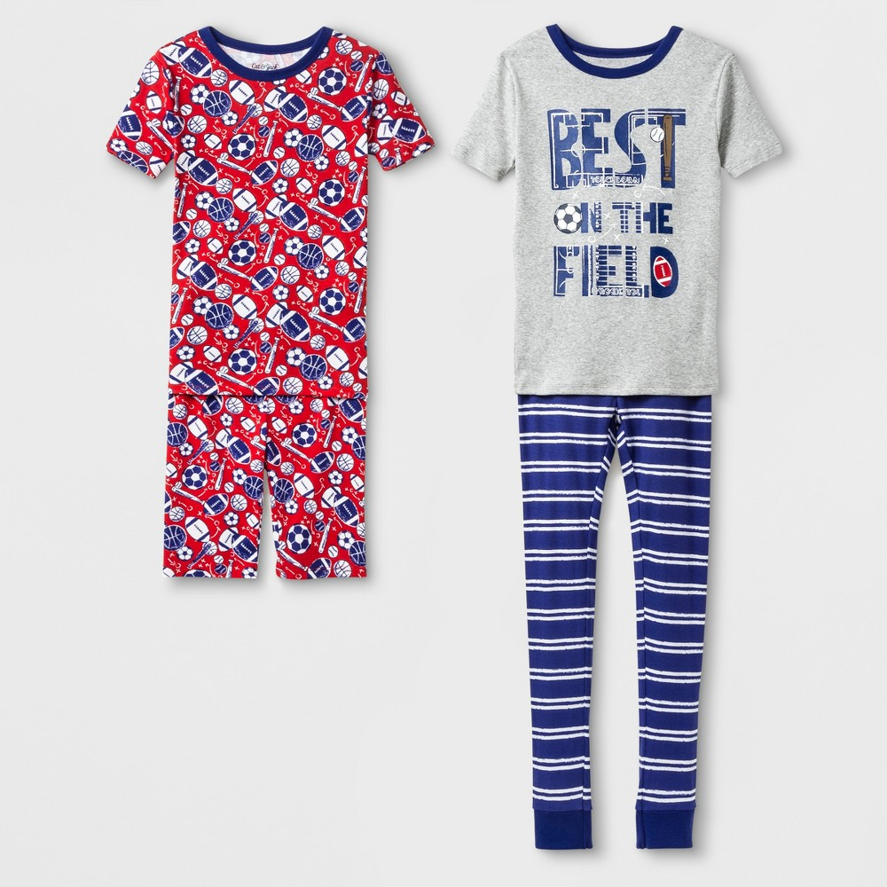 Boys' Best On The Field 2pk Tight Fit Pajama Set - Cat & Jack Fusion Blue 10