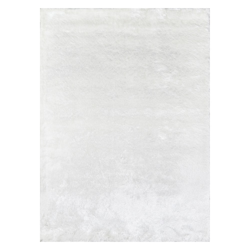 2'X3' Solid Tufted Accent Rug White - Momeni