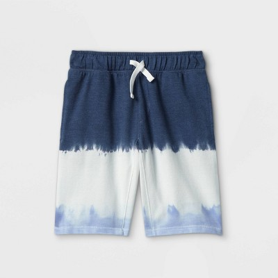 Boys' Knit Pull-On Shorts - Cat & Jack™ Blue/White