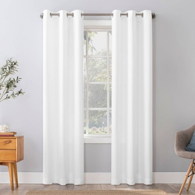 Herschel Slub Textured Semi-Sheer Grommet Top Curtain Panel - No. 918