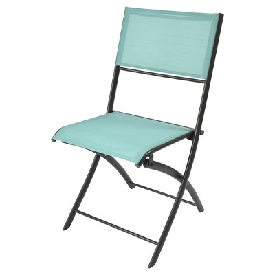 Sling Folding Patio Bistro Chair - Blue - Threshold™