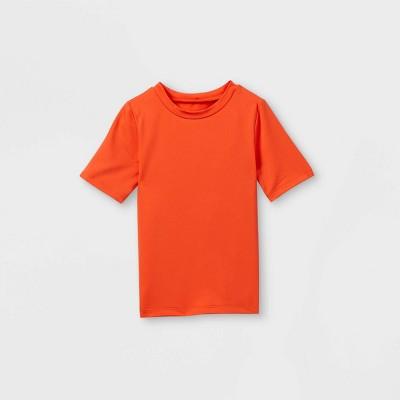 Toddler Boys' Short Sleeve Rash Guard Swim Shirt - Cat & Jack™ Orange