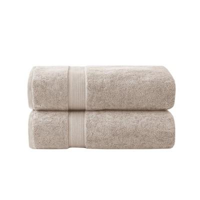 2pc Cotton Bath Sheet Set Tan