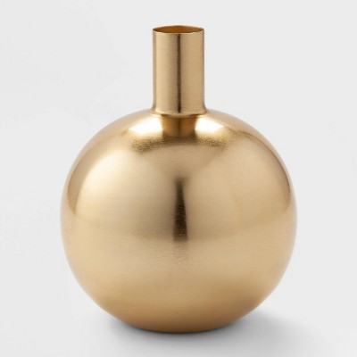 8.2  x 6.4  Decorative Brass Vase Gold - Project 62™