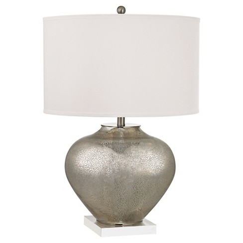 Lazy Susan Oversized Glass Table Lamp with LED Nightlight - image 1 of 1