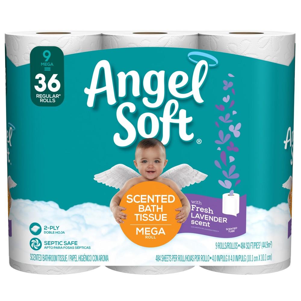 Angel Soft Fresh Lavender Scented Toilet Paper - 9 Mega Rolls