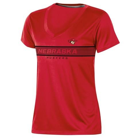 Nebraska Cornhuskers Women's Short Sleeve V-Neck Performance T-Shirt - image 1 of 2