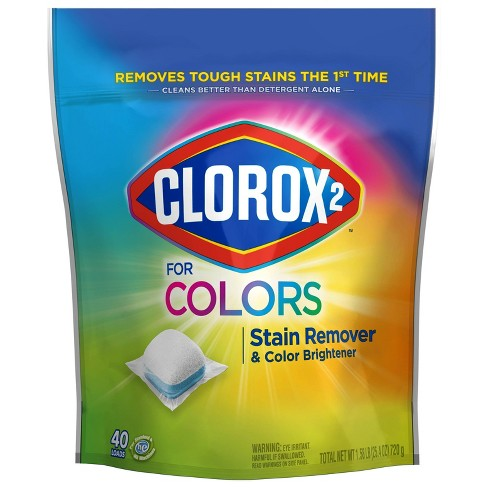 Clorox 2 for Colors Stain Remover and Color Brightener Packs - 40ct - image 1 of 3